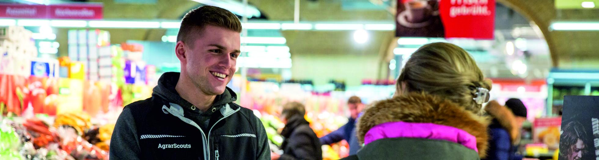 AgrarScout im Supermarkt